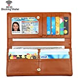 BIG SALE- 60% OFF-Dante Women RFID Blocking Ultra Slim Real Leather Wallet-Clutch Wallet-Shield Against Identity Theft Reviews (Free Shipping Available)
