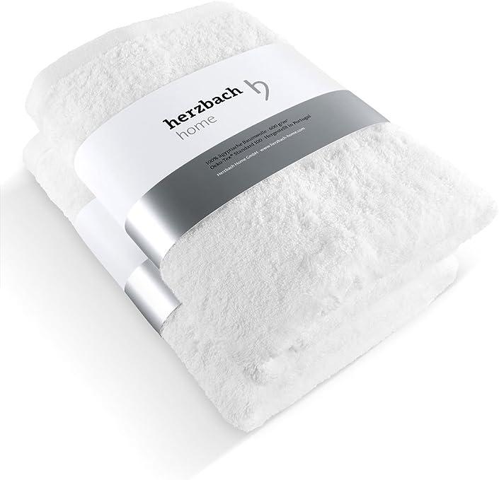 Herzbach Home - Juego de 2 toallas de mano (50 x 100 cm, 100 ...