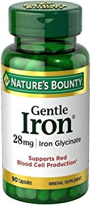 Nature's Bounty Gentle Iron 28 mg Capsules 90 Capsules (Pack of 2)