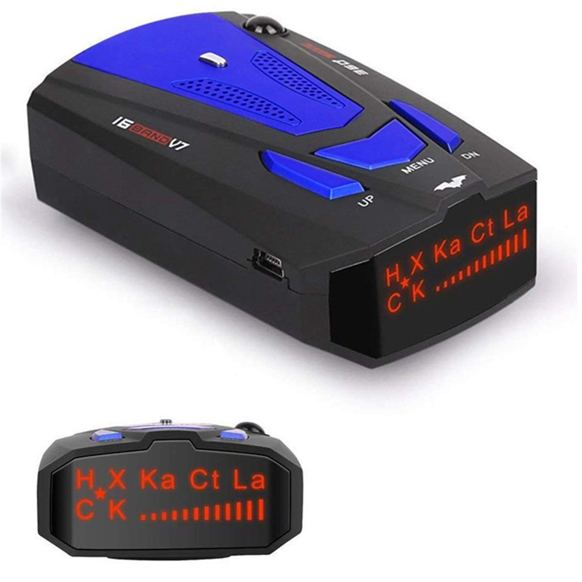 Vicovool Radar Detector, Laser Detector, Voice Alert and Car Speed Alarm System with 360 Degree Detection, City/Highway Mode Radar Detectors for Cars Bright LED Display by Vicovool