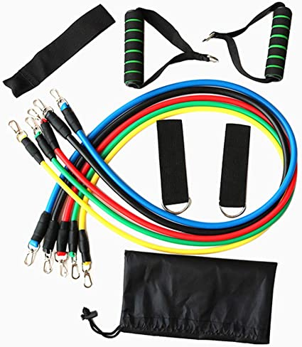 11 Piece Elastic Resistance Bands Set