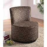 Coaster 902003 Round Swivel Accent Chair, Swirly Print