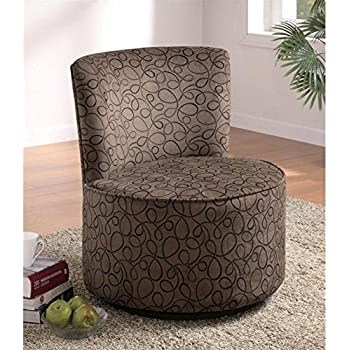 Amazon Com Coaster 902003 Round Swivel Accent Chair
