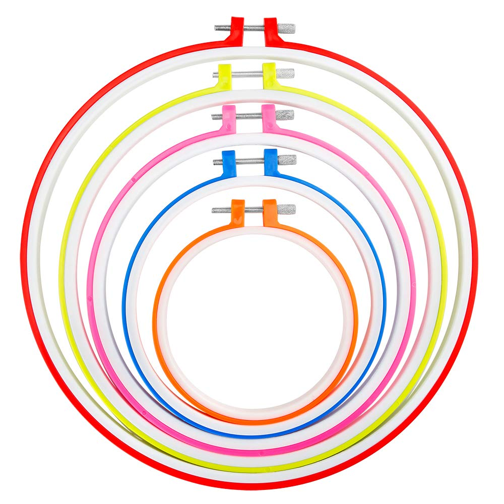 Caydo 5 Colors Embroidery Hoops