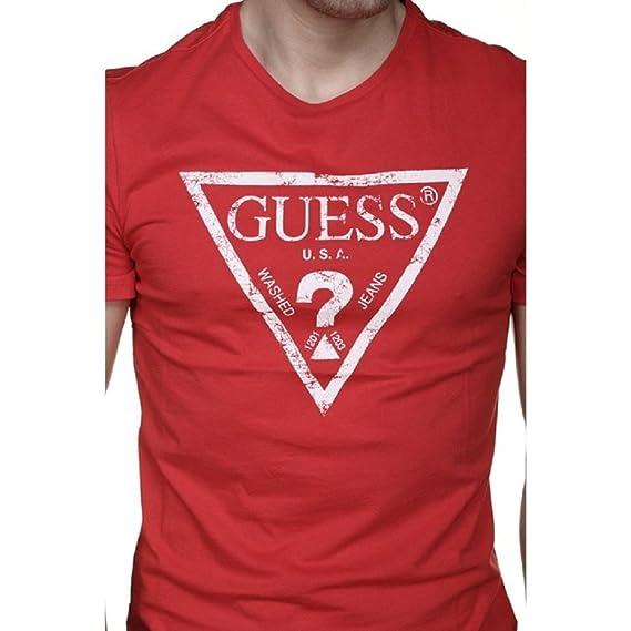 Guess Tee Shirt U82i00 - I3z00 G512 Rouge  Amazon.fr  Vêtements et ... 974091d14c3