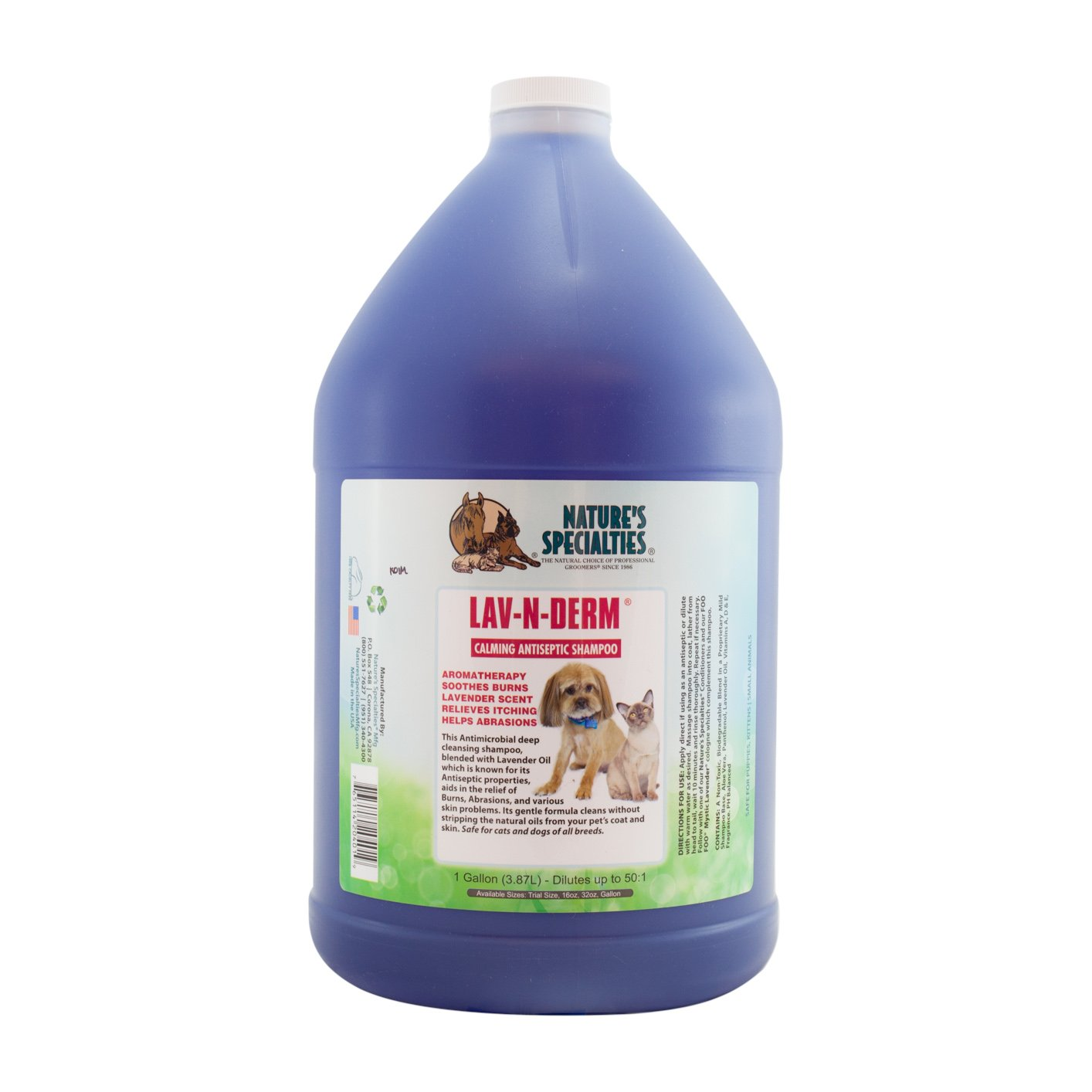 Nature's Specialties Lav-N-Derm Shampoo for Pets