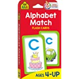 School Zone - Alphabet Match Flash Cards - Ages 4 and Up, Preschool to Kindergarten, ABC's, Letters, Matching, Beginning Soun