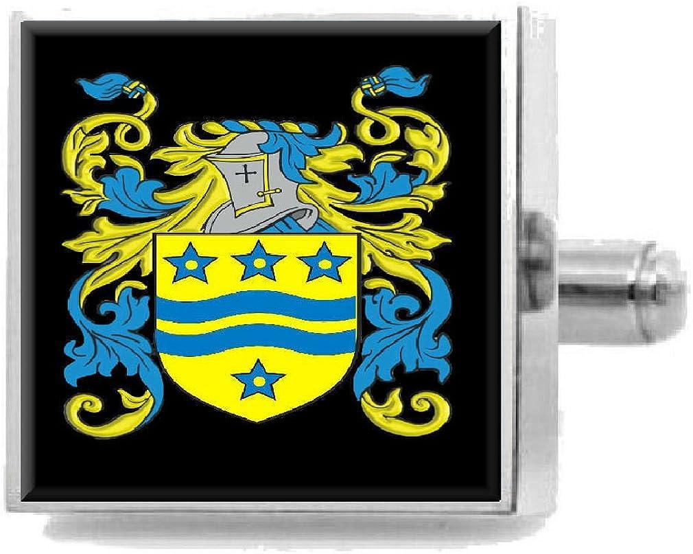 Select Gifts Halyburton Scotland Heraldry Crest Sterling Silver Cufflinks Engraved Box