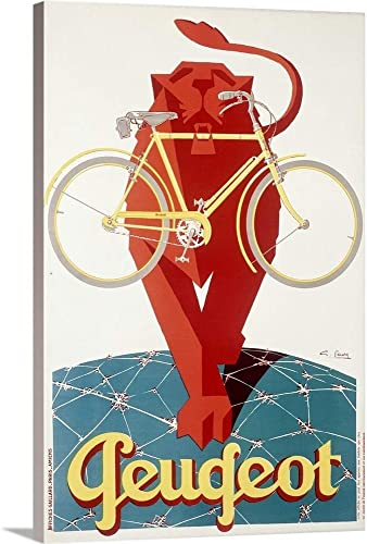Peugeot Bicycle Canvas Wall Art