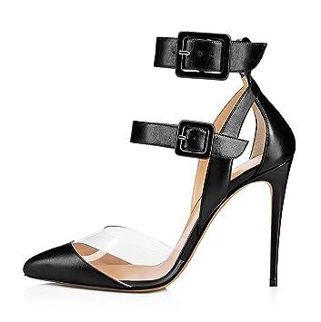 À Talons Pour Femmes Réglables Boucle Cheville Sandales Shoe Hauts g7fb6y