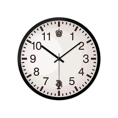 YONGJUN Reloj De Pared Minimalista Moderno, Reloj De Pared De 12 Pulgadas Marca Silenciosamente El