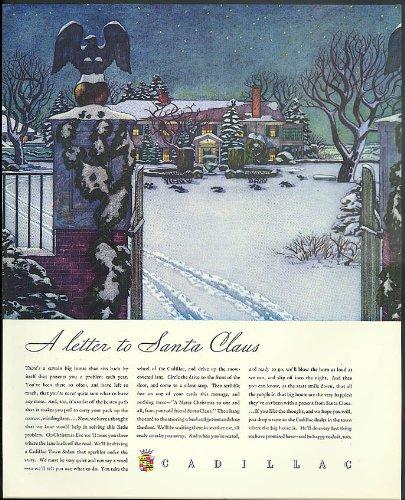 A letter to Santa Claus Cadillac ad 1934 - Santa Cadillac