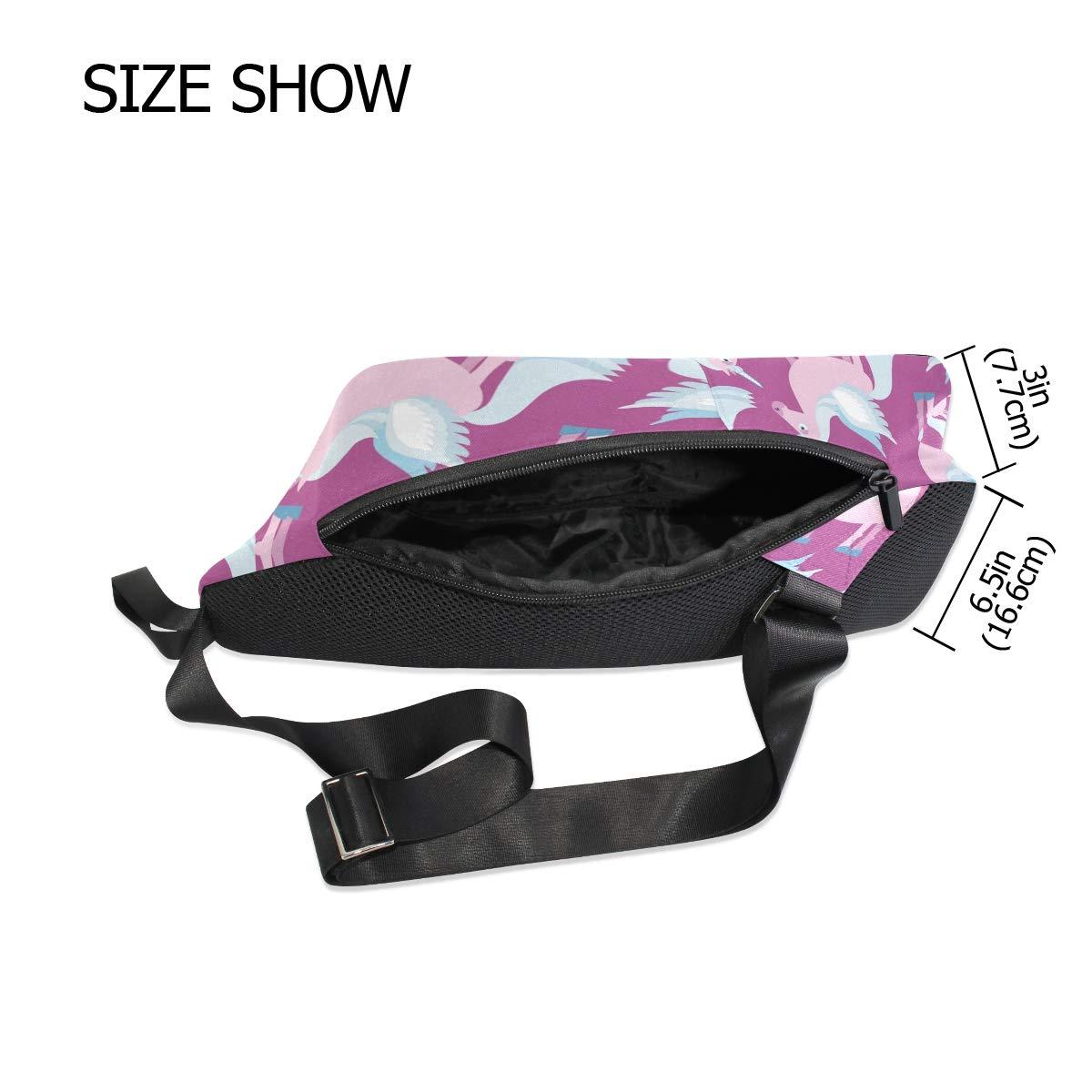 Unisex Messenger Bag Unicorn Shoulder Chest Cross Body Backpack Bag