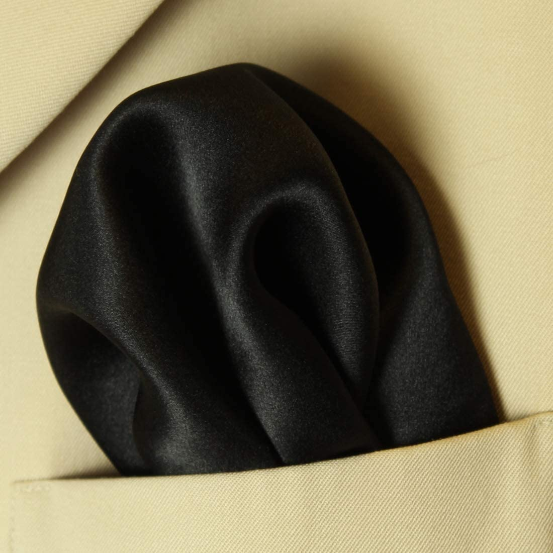 "Hunter Green Silk Satin Pocket Square 16/"" by Royal Silk®"