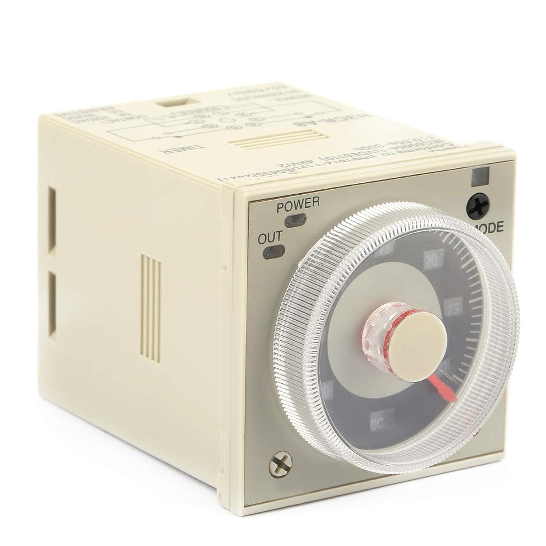 Relé de tiempo de retardo, relé de tiempo de control de perilla 1.2S-300H, relé de temporizador de retardo de 8 pines 100-240VAC 100-125VDC