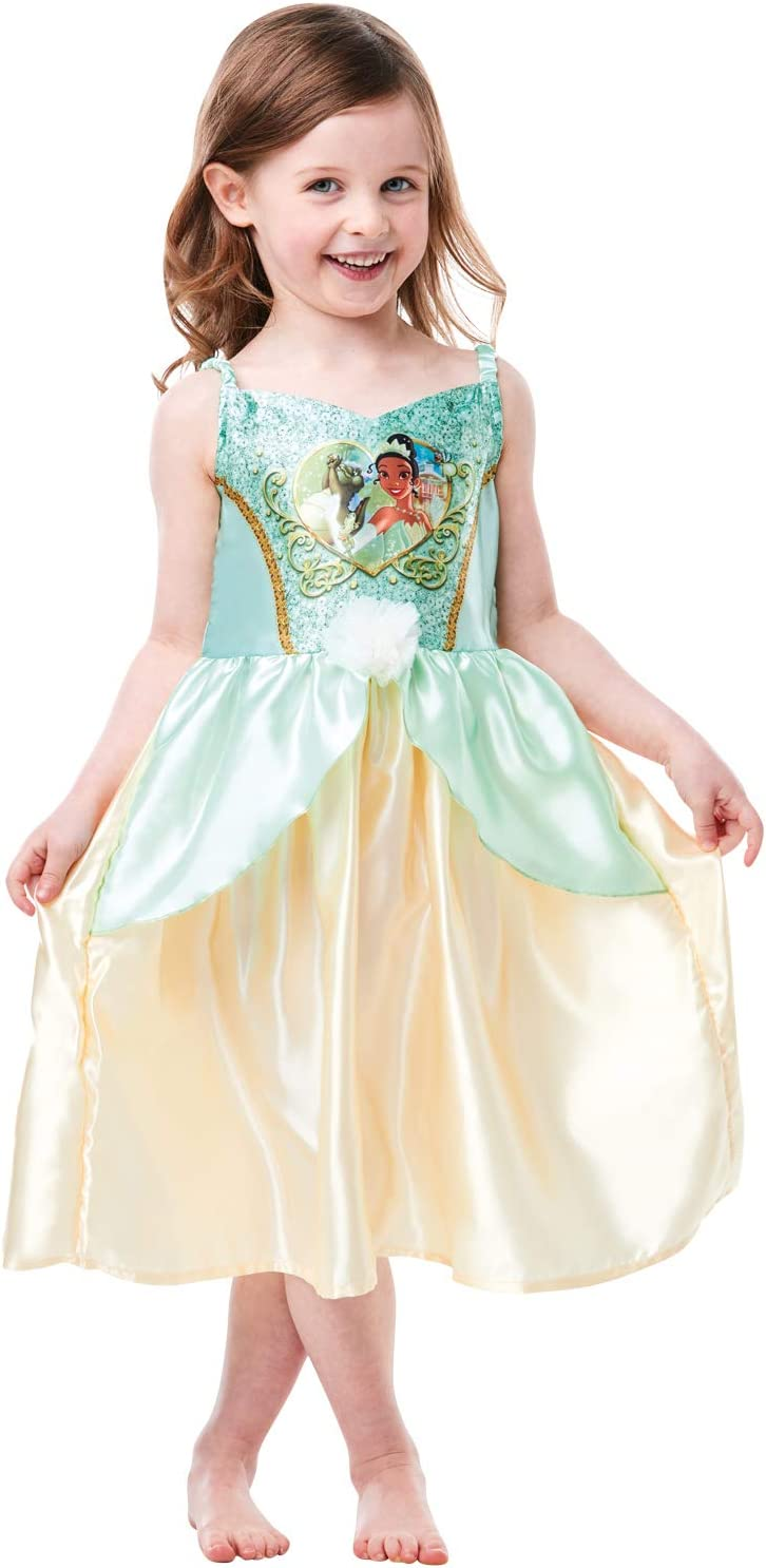 Rubies Disfraz oficial de princesa Disney Tiana de lentejuelas ...