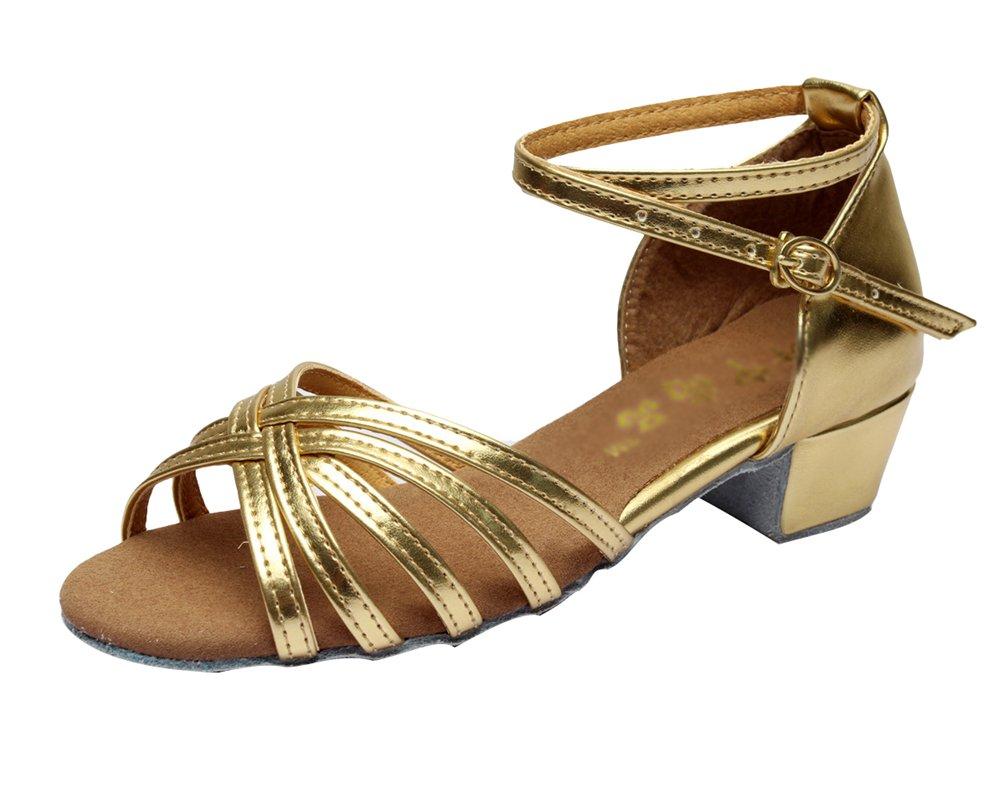 Lihaer Chaussure de Danse Latine Sandales Femme Chaussures Professionnelles de Danse de Salon Pour Enfants Adultes