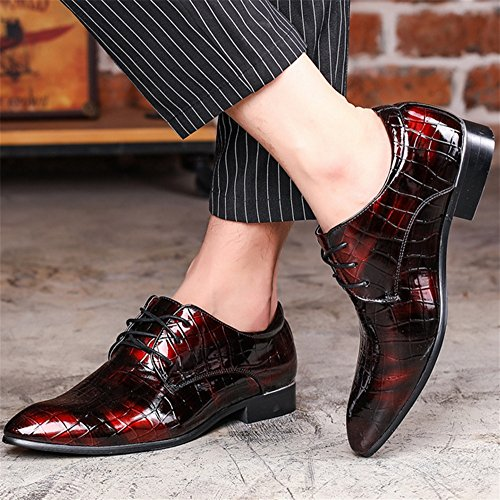 37 di XIE da di scarpe scarpe casual rosso d'affari casual tendenza dimensioni uomo grandi 47 Scarpe xqq1IwO