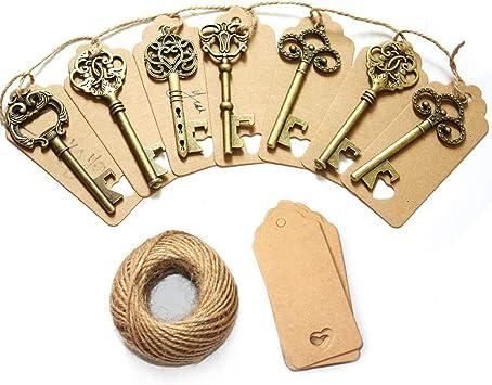 Anniversary 50th gold keys antique vintage skeleton old look skeleton wedding
