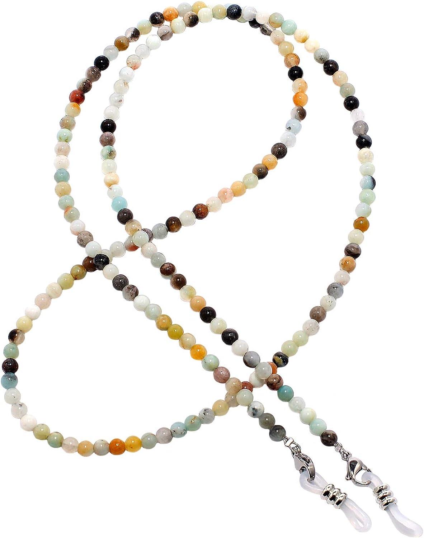 rainbow safety Cadena de Piedras Preciosas para Anteojos Collares Correas de Retención para Gafas Perlas Coral Amatista Ojo de Tigre Ágata Amazonita RC