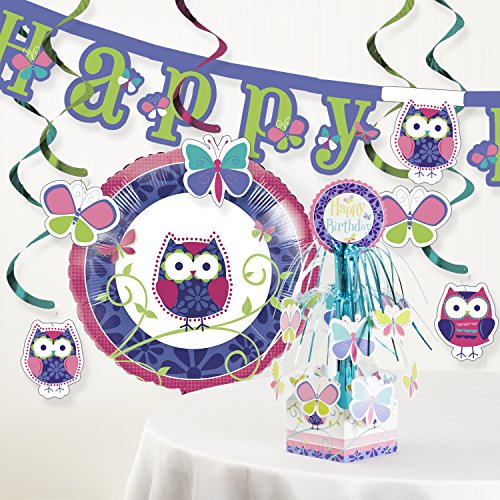 Owl Pal Birthday Party Decorations Kit -