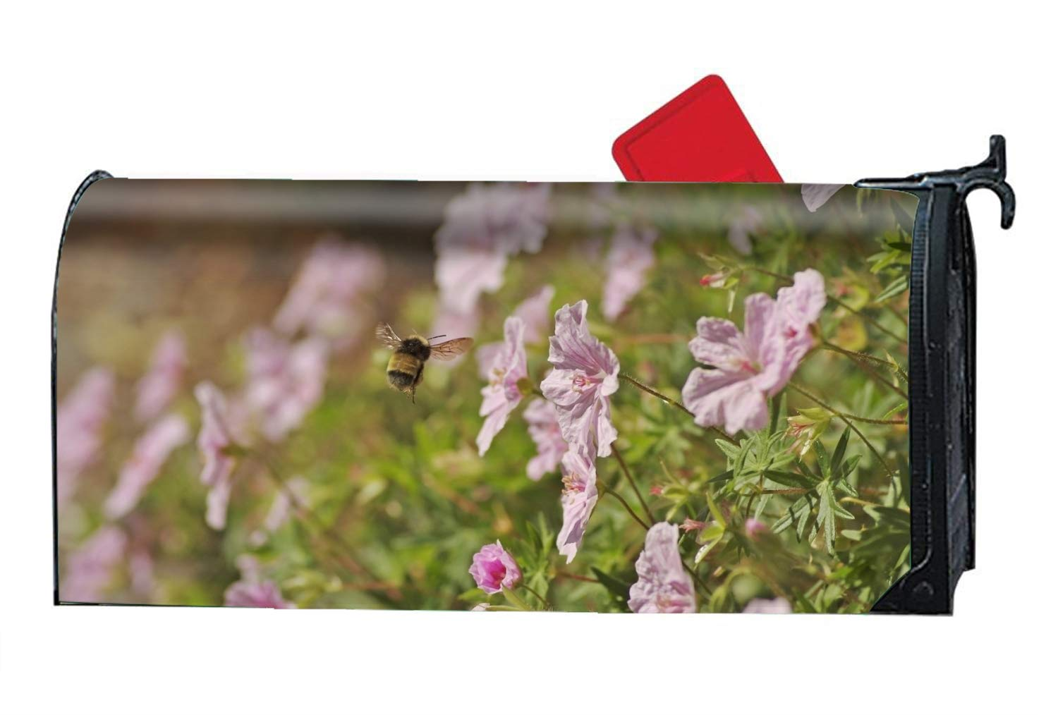 KSLIDS Earth Flowers Bee Mailbox Cover Standard Seasonal Customized Mailbox Wraps by KSLIDS (Image #1)
