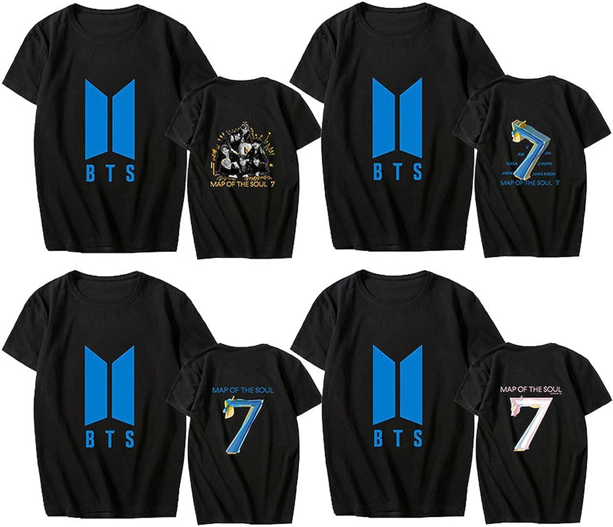 ACEFAST INC Kpop BTS Shirt Map of The Soul 7 T Shirt V Jimin Suga Jungkook RM J-Hope T-Shirt