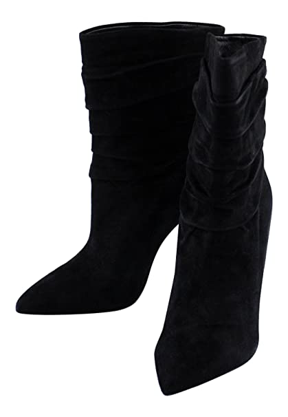 ec2a2cbc55a Image Unavailable. Image not available for. Color  CHRISTIAN LOUBOUTIN  Black Suede Ishtar Booty 100 Ankle Boot ...