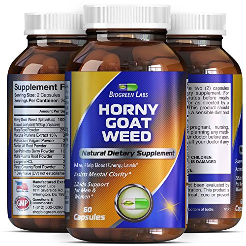 Horny Goat Weed Complex with 1000 mg Horny Goat Weed Extract and Extra Strength Tongkat Ali Root Pow…