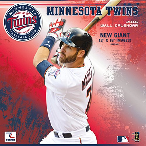 "Turner Minnesota Twins 2016 Team Wall Calendar, September 2015 - December 2016, 12 x 12"" (8011855)"