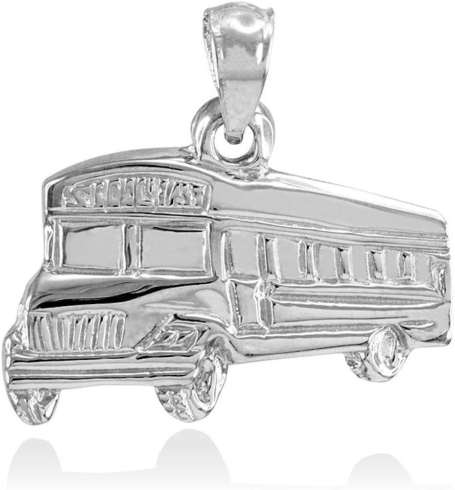 925 Sterling Silver Polished Ram Open-back Charm Pendant