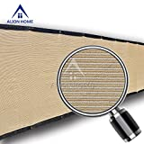 Alion Home Heavy Duty Privacy Screen For Patio, Deck, Balcony, Fence, Pool, Porch, Railing, Apartment Privacy -35 Inches Tall BEIGE(35'' X 15'10'')