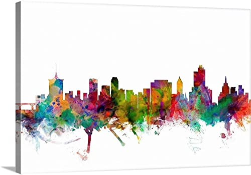 Tulsa Oklahoma Skyline Canvas Wall Art Print