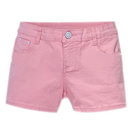 bae692904f Buy SODIAL(R) Summer Denim Shorts Slim Fit Candy Color Short Pants Short  Jeans Women Shorts Denim Pink L=28 Online at Low Prices in India - Amazon.in