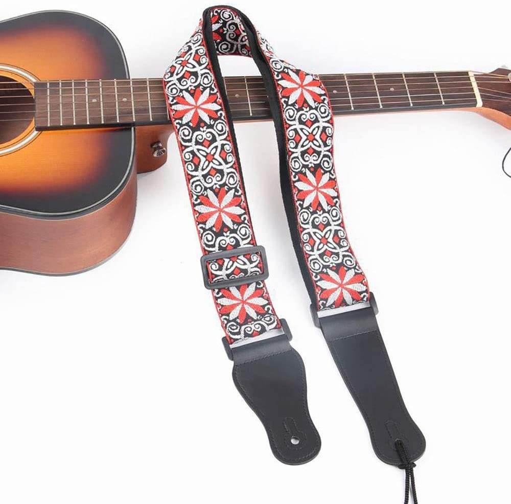 Correa de guitarra Guitarra bordado jacquard correa de la guitarra ...
