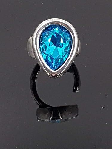 Folleto Inmoralidad brillante  uno de 50 style ring Swarovski ring zamak ring Anillo hecho a mano de zamak  y cristal de Swarovski Anillos