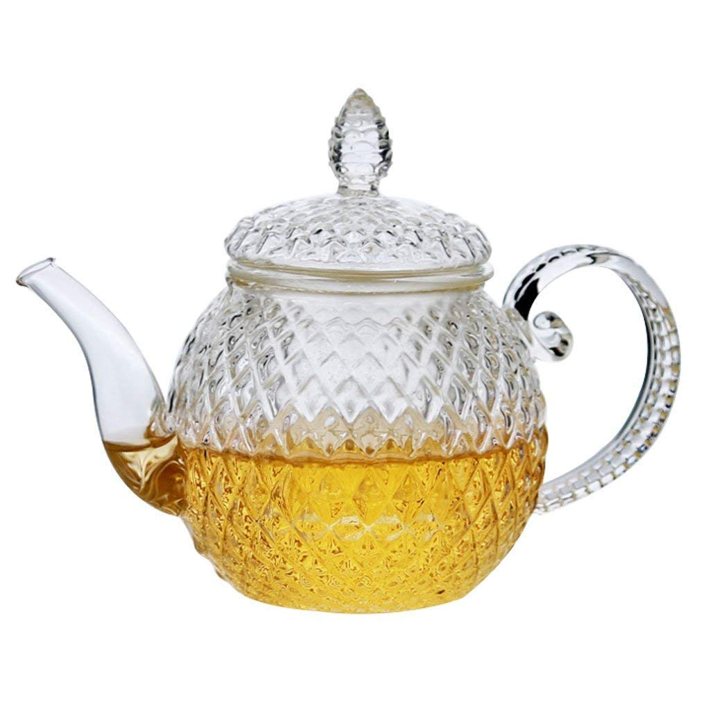 Glass Teapot-Lean Clear 500 ml Glass Teapot with Infuser for Tea Leaf Loose Tea (500 ml) Laen