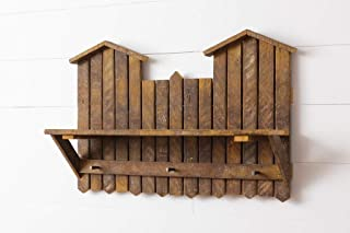 product image for Reclaimed Oak Wall Coat Rack with Shelf - Amish Made in The USA