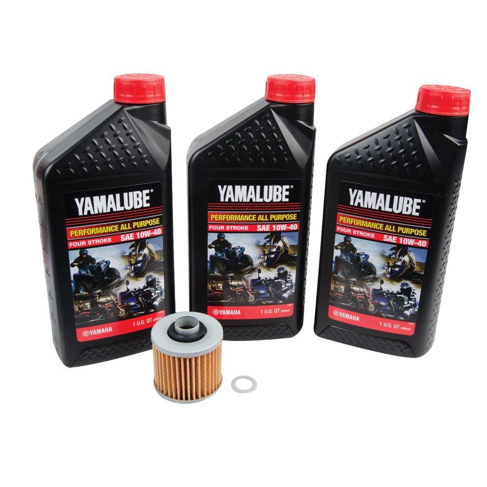 Tusk 4-Stroke Oil Change Kit Yamalube All Purpose 10W-40 - Fits: Yamaha GRIZZLY 450 4x4 2011-2014