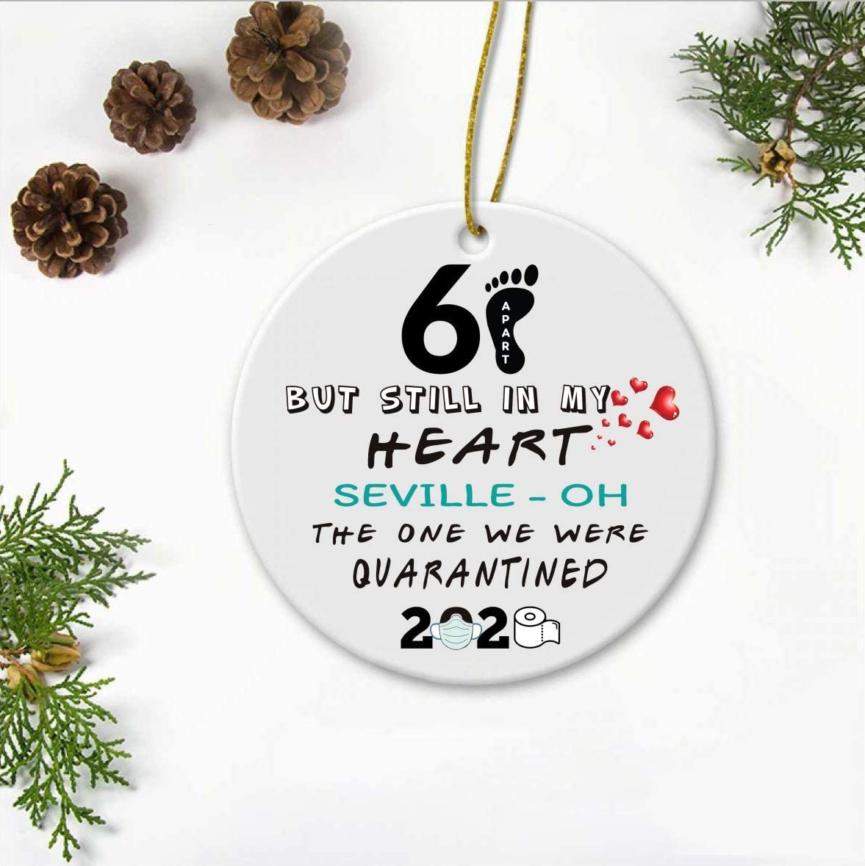 Feaet Of Christmas 2020 Amazon.com: 2020 Christmas Ornament Quarantine   6 Feet Apart But