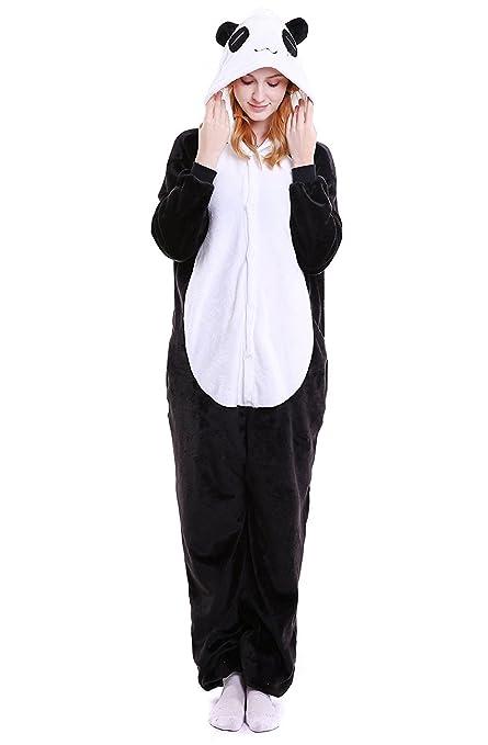 ABYED® Jumpsuit Tier Karton Fasching Halloween Kostüm Sleepsuit Cosplay Fleece-Overall Pyjama Schlafanzug Erwachsene Unisex L