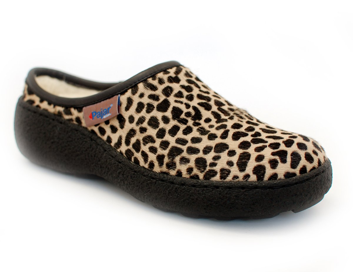 Pajar Women's Chalet Clog B00GYFEFVK 39 M EU/8-8.5 B(M) US Beige Leopard