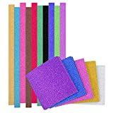Outus 200 Pieces Glitter Origami Papers Star Folding Paper with 100 Sheets Square Origami Papers, Assorted Colors