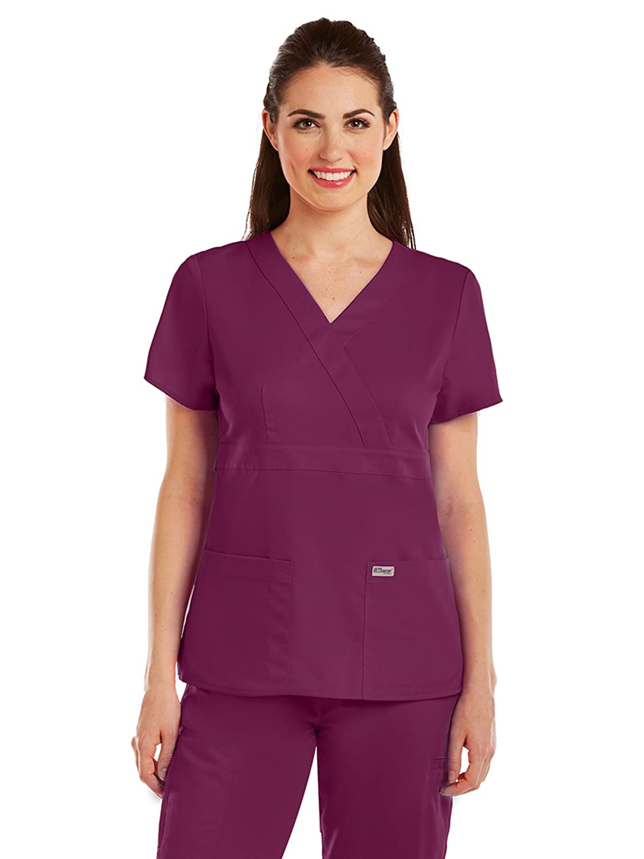 Amazon Greys Anatomy Womens 4153 Junior Fit Three Pocket Mock