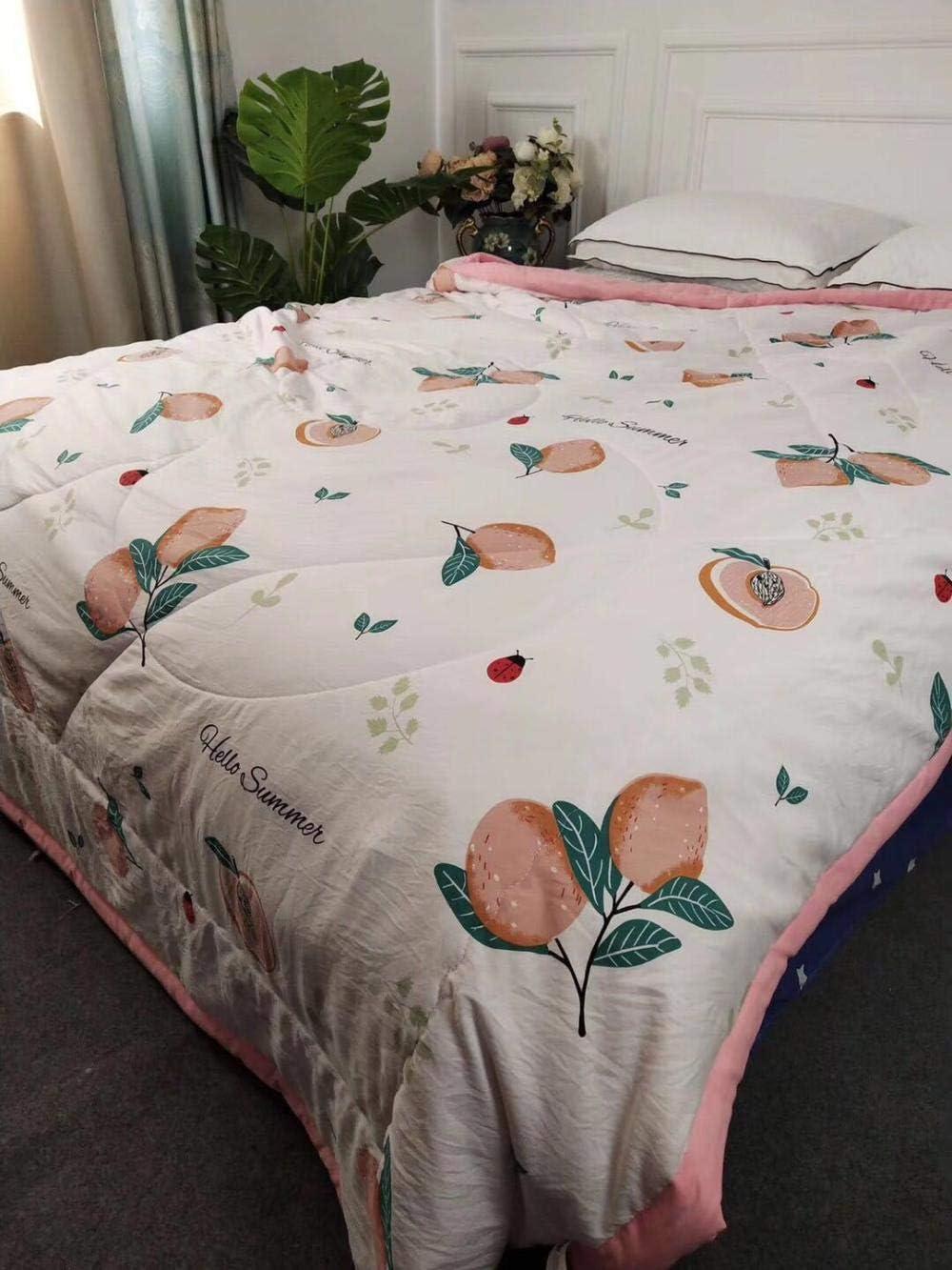 Big Pineapple N/°0 /Épicerie Couette Double en Duvet de Soie pour lit Queen en Microfibre avec Boucles dangle 150 * 200cm hypoallerg/énique et Anti-acariens
