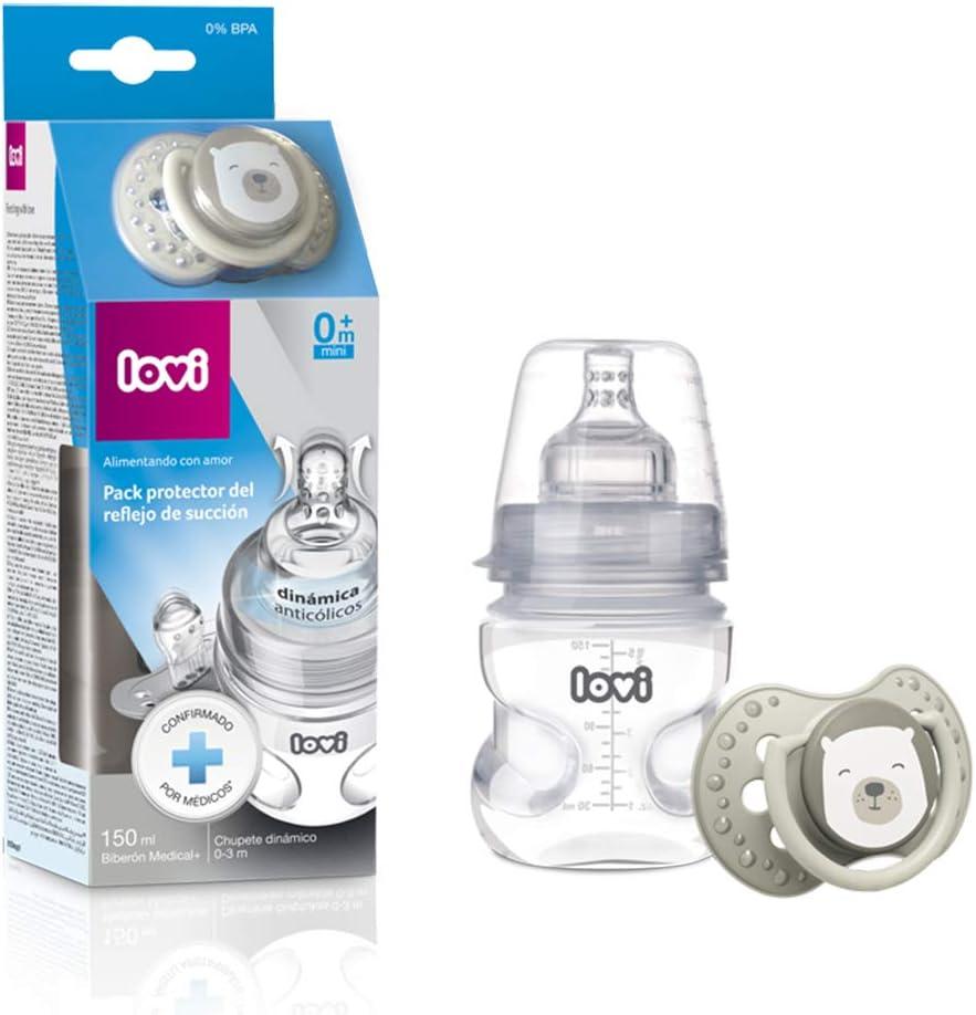 LOVI Pack protector del reflejo de succión LOVI: biberón 150ml y ...