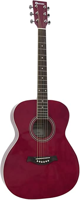 Guitarra Western LUKE con funda para guitarras, roja - Guitarra ...