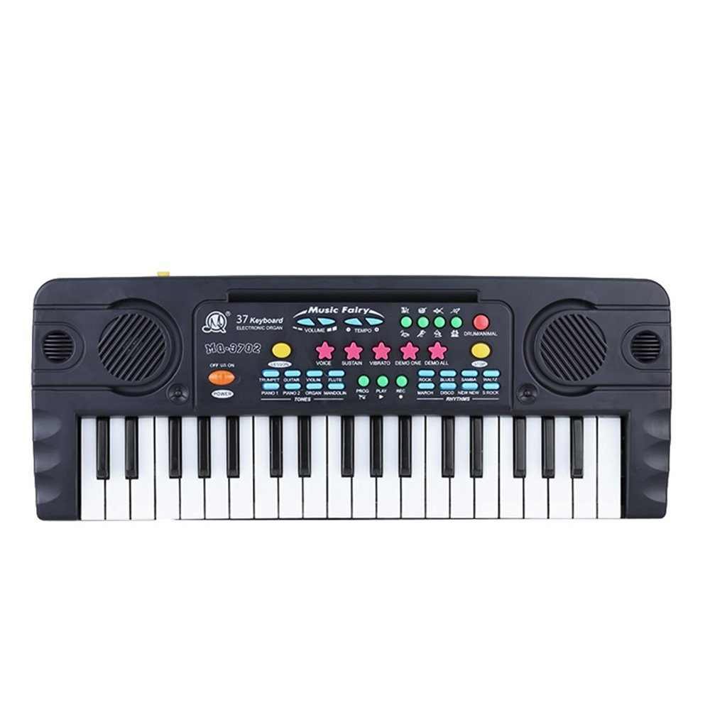 Andoer® Mini Teclado Electrónico Mini 37 Teclas Juguete de Música Multifuncional con Micrófono Electone Regalo Educativo para Principiantes de Niños Bebés