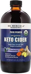 MITOMIX KETO CIDER - Organic Blueberry Apple Cider Vinegar with Ginger & Turmeric (16 fl. oz. per Bottle): 1 Bottle