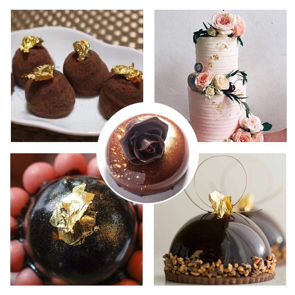 Decorazioni Per Il Trucco Torte Alimenti Da Cucina Fogli Di Foglie Doro Commestibili Lamina Doro Commestibile Da 10 Ml Per Dessert Bevande Cioccolato